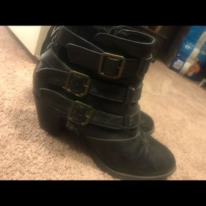 Women's black ankle booties